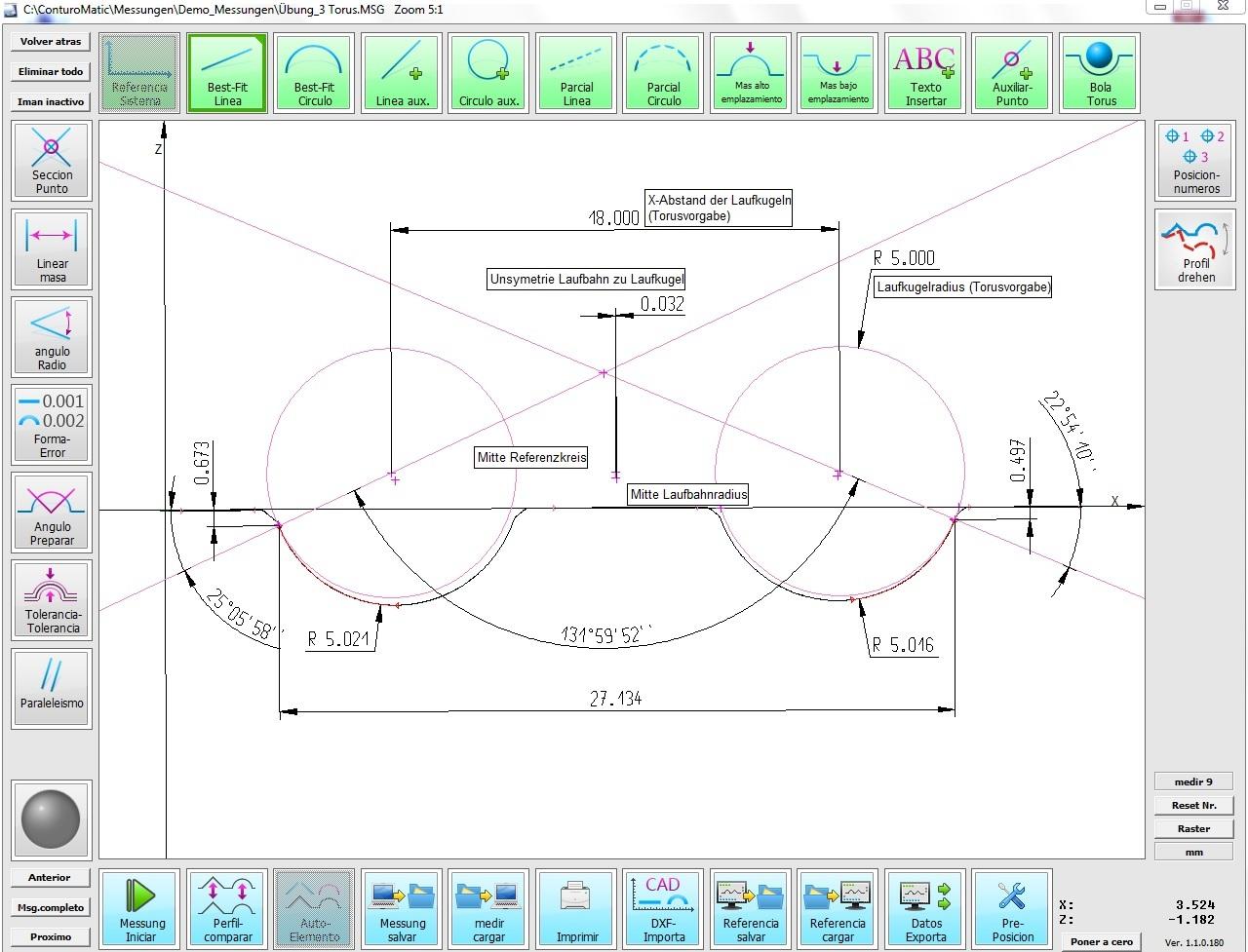 Software perfilómetro