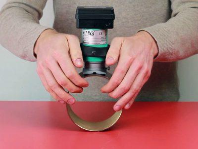 Portable hardness tester Rockwell Affri Metaltester cilinder
