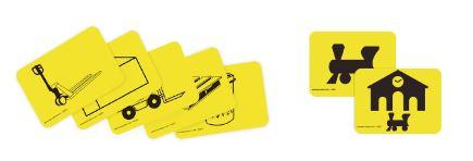 pictogramas de almacenamiento adhesivos